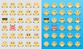 Κίτρινα εικονίδια emoticons Στοκ Εικόνες