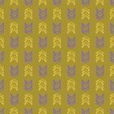Κίτρινα εκλεκτής ποιότητας φύλλα μουστάρδας με την ιώδη πορφύρα διανυσματική απεικόνιση