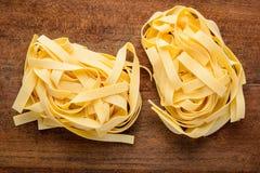 Κίτρινα ζυμαρικά Tagliatelle Tagliolini Στοκ Εικόνες
