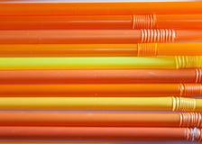 Κίτρινα και πορτοκαλιά άχυρα Στοκ φωτογραφία με δικαίωμα ελεύθερης χρήσης