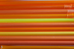 Κίτρινα και πορτοκαλιά άχυρα Στοκ Εικόνες