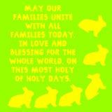 Κίτρινα κουνέλι και κείμενο με το πράσινο υπόβαθρο διανυσματική απεικόνιση