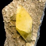 Κίτρινα κρύσταλλα φθορίτη Στοκ φωτογραφίες με δικαίωμα ελεύθερης χρήσης
