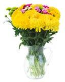 Κίτρινα, κόκκινα και ρόδινα λουλούδια mum Στοκ φωτογραφία με δικαίωμα ελεύθερης χρήσης