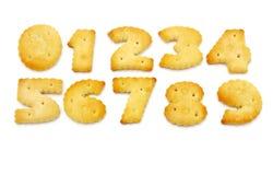 Κίτρινα μπισκότα υπό μορφή αριθμών Στοκ Εικόνες