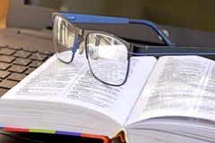 Κίτρινα μπλε γυαλιά Στοκ Φωτογραφία