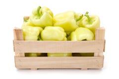 Κίτρινα πιπέρια κουδουνιών (καψικό annuum) Στοκ φωτογραφία με δικαίωμα ελεύθερης χρήσης