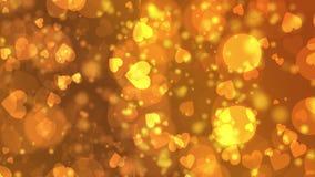 Κίτρινα πορτοκαλιά εξαγωνικά φω'τα υποβάθρου bokeh απόθεμα βίντεο