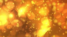 Κίτρινα πορτοκαλιά εξαγωνικά φω'τα υποβάθρου bokeh φιλμ μικρού μήκους