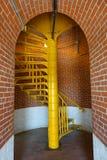 Κίτρινα σκαλοπάτια στο φάρο Barnegat Στοκ φωτογραφίες με δικαίωμα ελεύθερης χρήσης