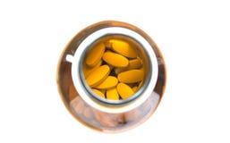 Κίτρινα χάπια Στοκ φωτογραφίες με δικαίωμα ελεύθερης χρήσης