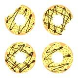 Κίτρινα donuts Στοκ φωτογραφία με δικαίωμα ελεύθερης χρήσης