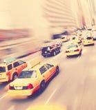Κίτρινα taxicabs της Νέας Υόρκης Στοκ Φωτογραφία