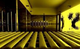 Κίτρινες έδρες από τη λίμνη Waveless στοκ εικόνες
