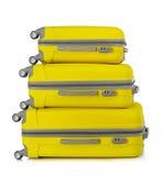 Κίτρινες βαλίτσες Στοκ φωτογραφία με δικαίωμα ελεύθερης χρήσης