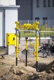 Κίτρινες βαλβίδες NAD σωλήνων Στοκ Εικόνες