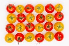 Κίτρινες και κόκκινες ντομάτες Στοκ Εικόνα