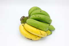 Κίτρινες και πράσινες μπανάνες Στοκ Εικόνες