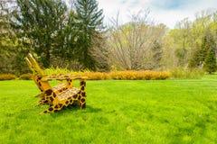 Κίτρινες καρέκλες με giraffe τα σημεία Στοκ Εικόνες