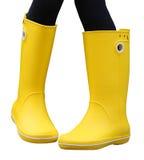 Κίτρινες λαστιχένιες μπότες Στοκ φωτογραφία με δικαίωμα ελεύθερης χρήσης