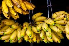 Κίτρινες μπανάνες με το Μαύρο Στοκ Εικόνα