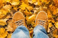 Κίτρινες μπότες σουέτ Στοκ Φωτογραφία