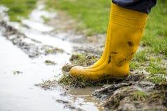 Κίτρινες μπότες Στοκ εικόνα με δικαίωμα ελεύθερης χρήσης