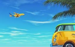 Κίτρινες μύγες αεροπλάνων Στοκ Εικόνες
