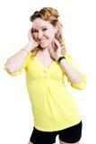 κίτρινες νεολαίες κορι& Στοκ Εικόνα