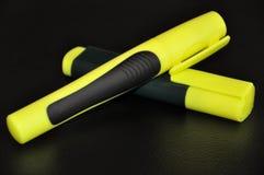 Κίτρινες πέννες Στοκ φωτογραφία με δικαίωμα ελεύθερης χρήσης