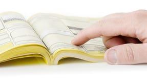 Κίτρινες σελίδες Στοκ εικόνα με δικαίωμα ελεύθερης χρήσης