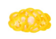 Κίτρινες φέτες των πιπεριών Στοκ Φωτογραφίες