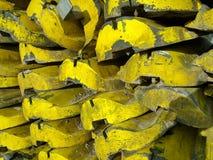 Κίτρινες χρωματισμένες ακτίνες μετάλλων Στοκ Εικόνες