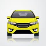 Κίτρινη άποψη πηγών εικονιδίων αυτοκινήτων επίσης corel σύρετε το διάνυσμα απεικόνισης Στοκ εικόνα με δικαίωμα ελεύθερης χρήσης