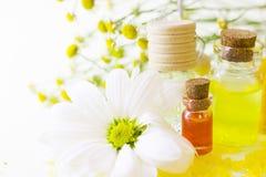 Κίτρινη έννοια Aromatherapy Στοκ Φωτογραφία