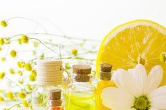 Κίτρινη έννοια Aromatherapy Στοκ φωτογραφίες με δικαίωμα ελεύθερης χρήσης
