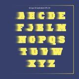Κίτρινη αθλητική ομάδα αλφάβητου Στοκ Εικόνα