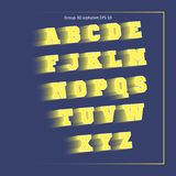 Κίτρινη αθλητική ομάδα αλφάβητου Στοκ φωτογραφίες με δικαίωμα ελεύθερης χρήσης