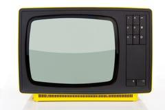 Κίτρινη αναδρομική τηλεόραση. Στοκ Εικόνες