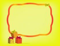 Κίτρινη ανασκόπηση Χριστουγέννων Στοκ Εικόνα
