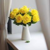 Κίτρινη ανθοδέσμη τριαντάφυλλων Στοκ Εικόνες
