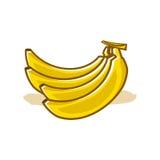 Κίτρινη απεικόνιση μπανανών Στοκ Φωτογραφία