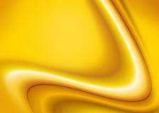 Κίτρινη αφηρημένη ανασκόπηση κυμάτων Στοκ Εικόνες