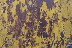 Κίτρινη αφηρημένη σύσταση σκουριάς Στοκ Εικόνες