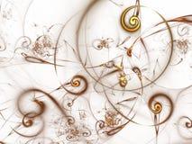 Κίτρινη αφηρημένη fractal τρισδιάστατη δίνοντας απεικόνιση υποβάθρου ελεύθερη απεικόνιση δικαιώματος