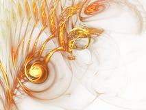 Κίτρινη αφηρημένη fractal τρισδιάστατη δίνοντας απεικόνιση υποβάθρου διανυσματική απεικόνιση