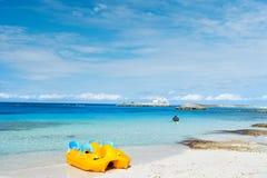 Κίτρινη βάρκα κουπιών Στοκ Εικόνα