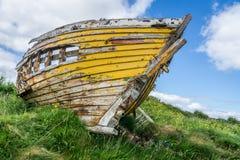 Κίτρινη βάρκα της Ιρλανδίας Στοκ Εικόνα