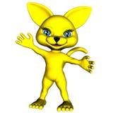 Κίτρινη γάτα 1 manga Στοκ Εικόνες