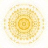 Κίτρινη γεωμετρική συμμετρία καλειδοσκόπιων σχεδίων ταπετσαρία μωσαϊκών διανυσματική απεικόνιση